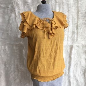 2 for $15 New Directions ruffle top size M